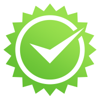 guaranteed benefit green check mark icon